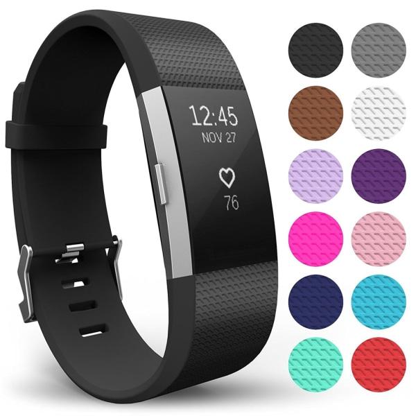 Fitbit Charge 2 armband Svart (S)
