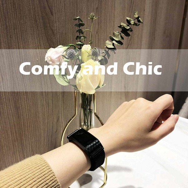 Fitbit Charge 3/4 armband nylon Svart