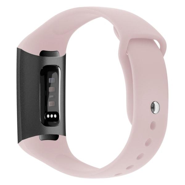 Fitbit Charge 3/4 armband silikon Ljusrosa (S)