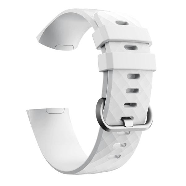 Fitbit Charge 3/4 armband silikon Vit/Silver (S)