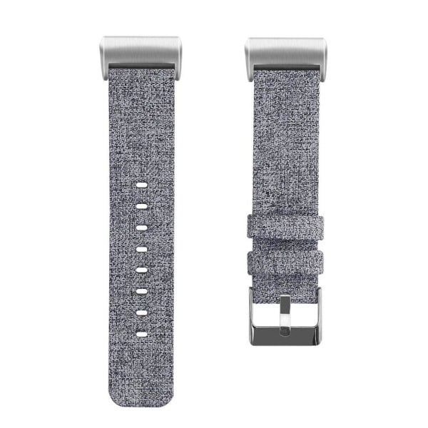 Fitbit Charge 3/4 armband canvas Grå (L) grå one size