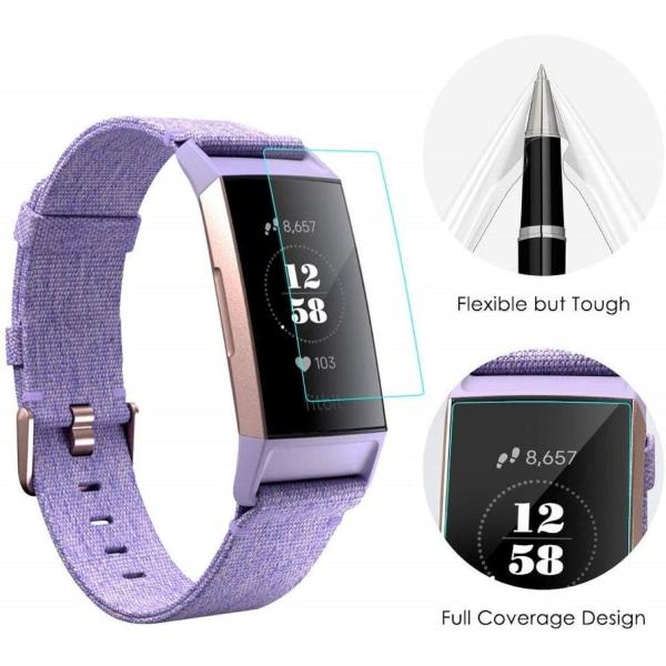 Skärmskydd Fitbit Charge 3 TPU 5-pack Transparent