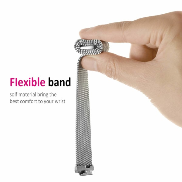Fitbit Inspire/Inspire HR armband Milanesisk loop Silver (S)