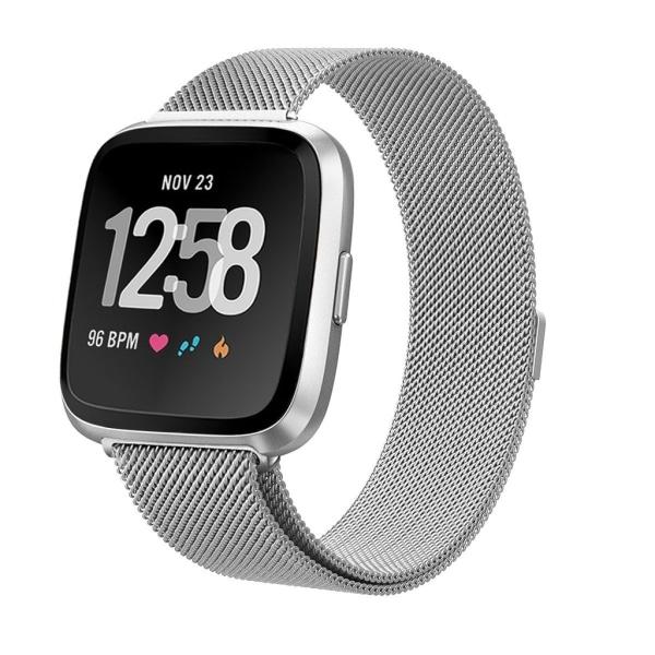 Fitbit Versa/Sense armband Milanesisk Loop Silver (S)