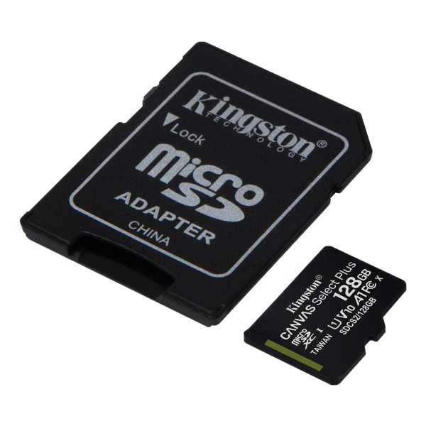 Kingston 128GB micSDXC Canvas Select Plus 100R A1 C10 Card + ADP