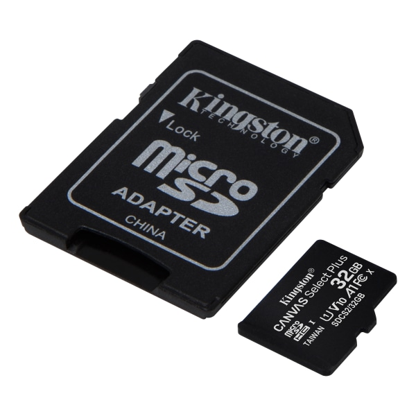 Kingston 32GB micSDHC Canvas Select Plus 100R A1 C10 Card + ADP