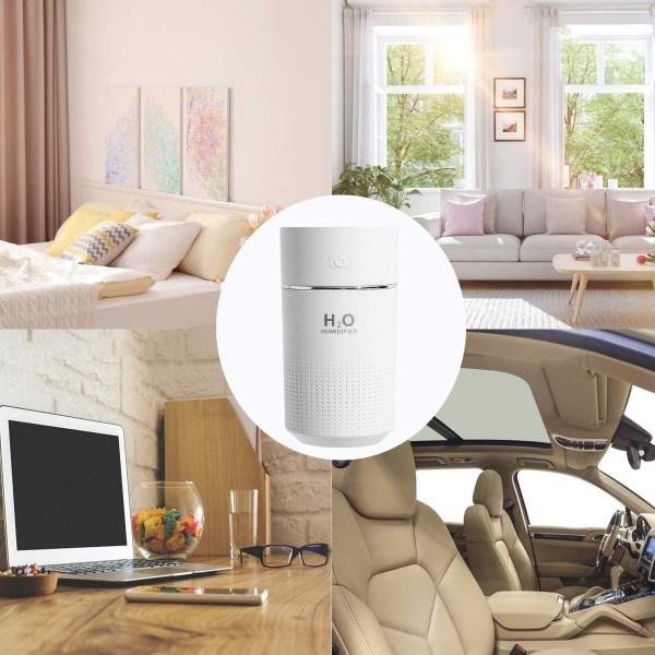 Luftfuktare med USB och LED belysning 360 ml Vit