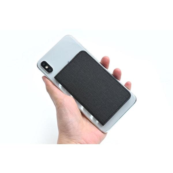 Magnetiskt korthållare till mobilen - svart Svart