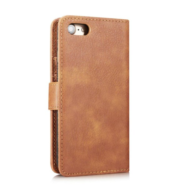 Mobilfodral till iPhone 7/8 - mobilplånbok i PU-läder - brun Black