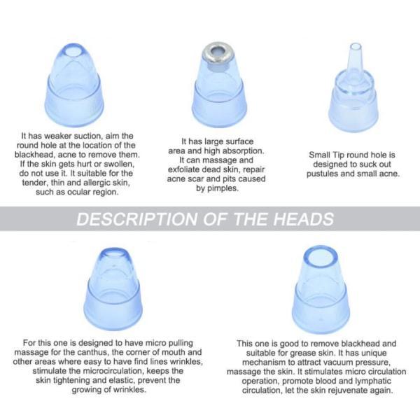Multifunktionell ansiktsrengörare med vakuum