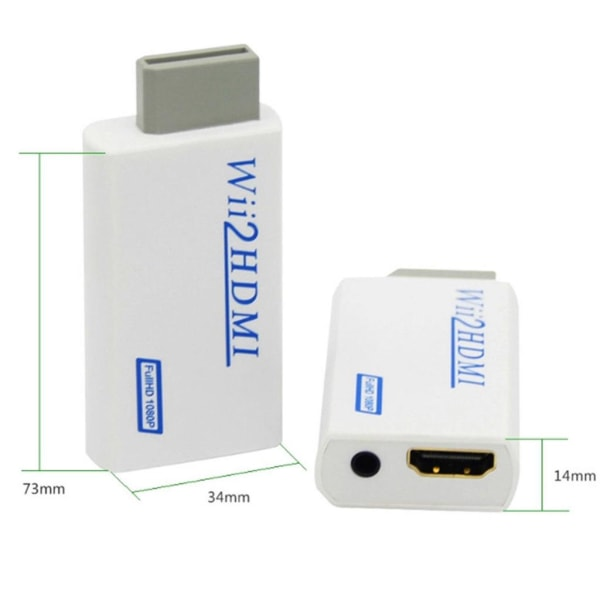 Nintendo Wii till HDMI adapter - full HD 1080P Vit