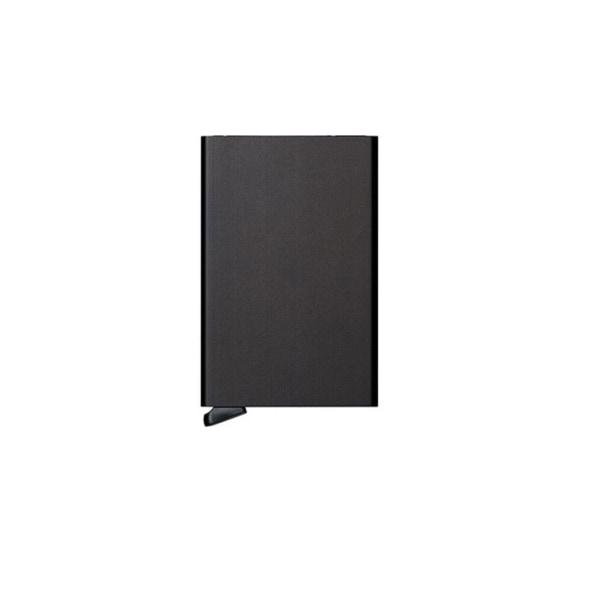 Pop-up korthållare med RFID signalblockering - svart Svart M