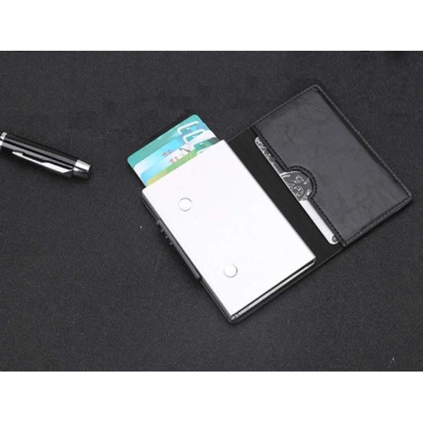 RFID korthållare PU-läder svart Svart