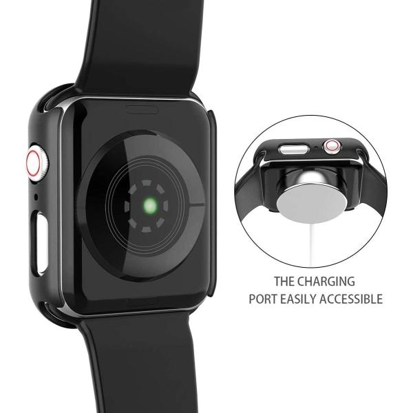 Skärmskydd Apple Watch 4/5 44mm Härdat glas Svart