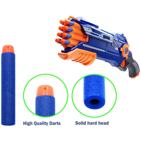 Skumgummipilar Nerf Gun skott 10-pack Blå