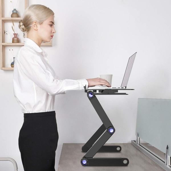 Smart justerbart laptopbord - Svart Black