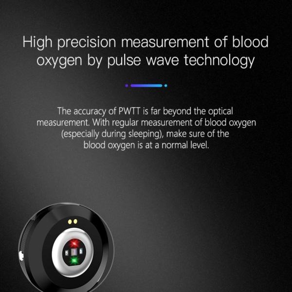 Smartklocka med blodtryck och hjärrfrekvensmätare Black