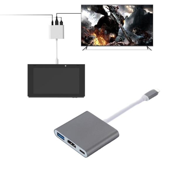USB-C Multiport Adapter till USB (PD), HDMI 4K och USB-C