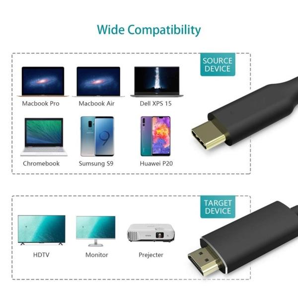 USB-C till HDMI Adapter kabel 4K/30Hz - 2 m