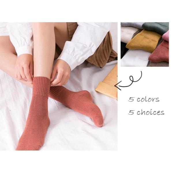 Varma strumpor i vintage stil - 65% bomull 35-42
