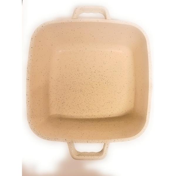 MGC Granit Fyrkantiga Kastrulluppsättningen induktion vit