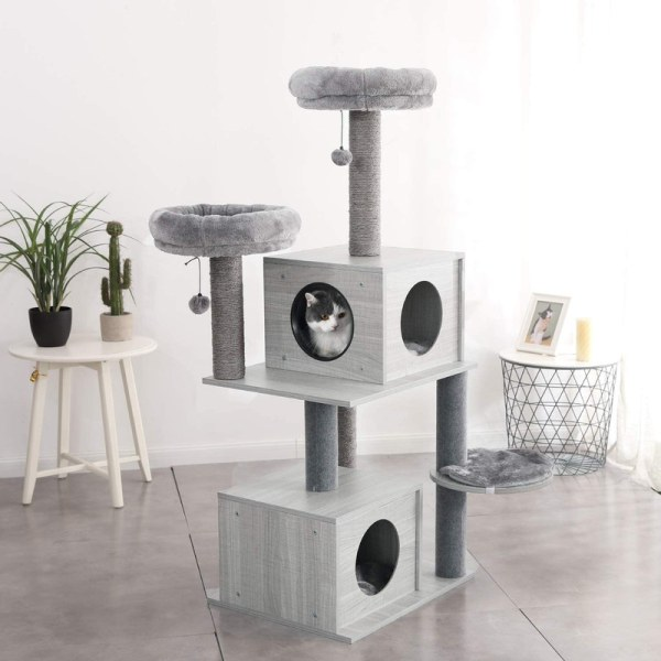 Cat Scratching Post with Covered Trunks