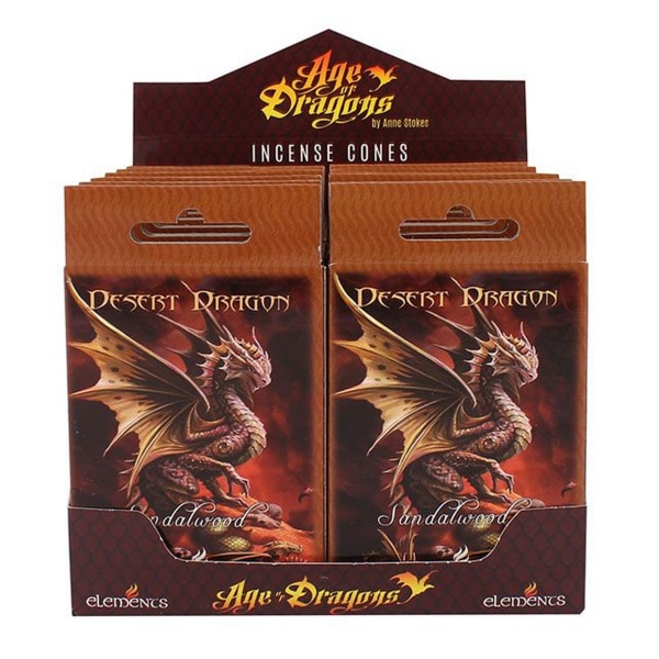 Age Of Dragons Desert Dragon Incense Cones (12 paket med 15) One