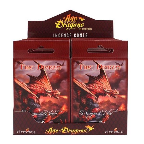 Age Of Dragons Fire Dragon rökelsekottar (12 förpackningar om 15