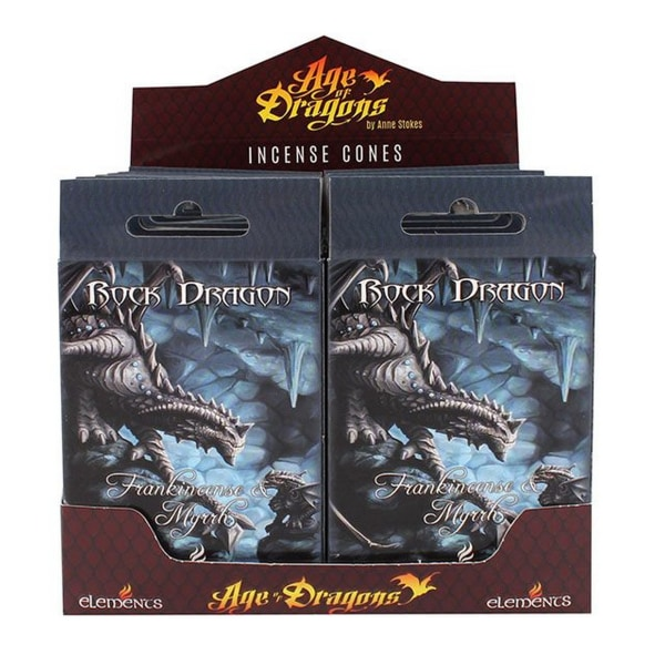 Age Of Dragons Rock Dragon Incense Cones (12 paket med 15) One S