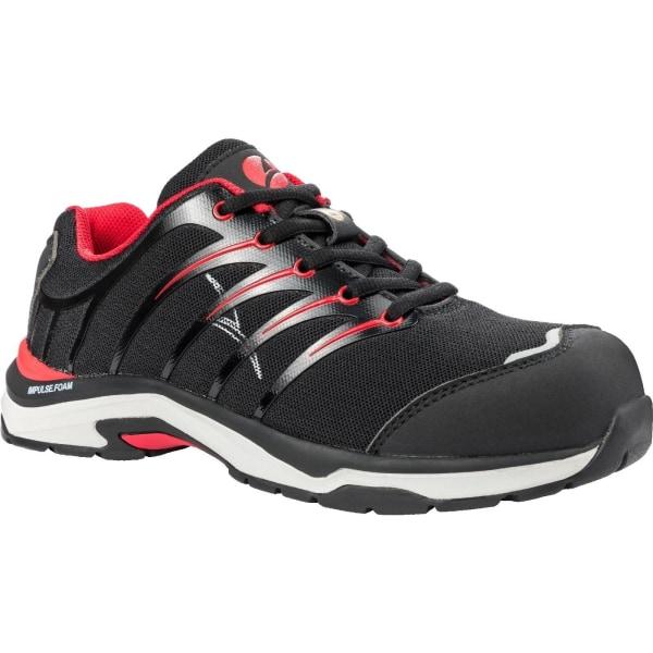 Albatros Mens Twist Low Lace Up Safety Shoe 6 UK Svart röd