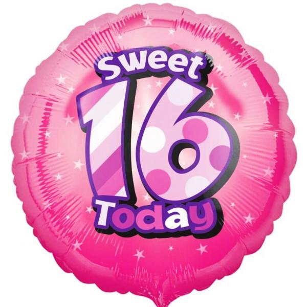 Anagram 18 tums lycklig söt 16 födelsedagscirkelfolie ballong On