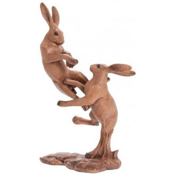 Animal Kingdom Fighting Hares Ornament One Size Brun