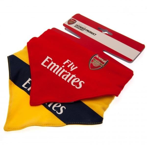 Arsenal FC Baby unisex haklappar (paket med 2) One Size Röd gul