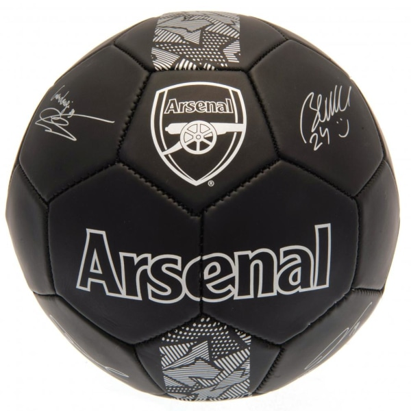 Arsenal FC Phantom Signature Football One Size Svart