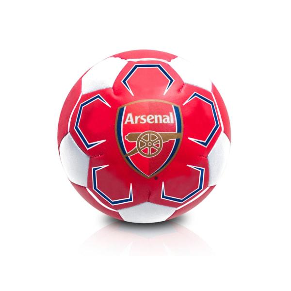 Arsenal FC Soft Mini Fotboll One Size Röd / Vit