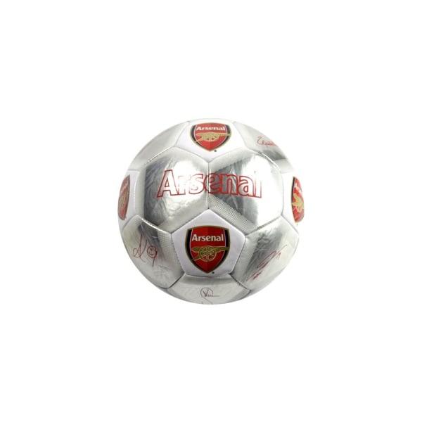 Arsenal FC Signature Football 5 Silver / Röd