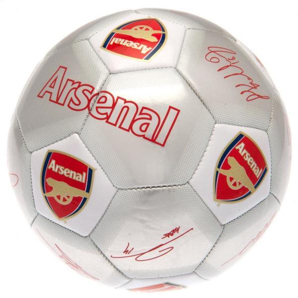 Arsenal FC Tryckta spelares signaturer Signerad fotboll One Size S