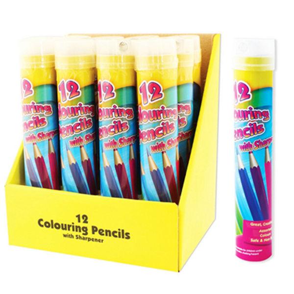 ArtBox 12 målarpennor och skärpa i full storlek One Size Flerfär