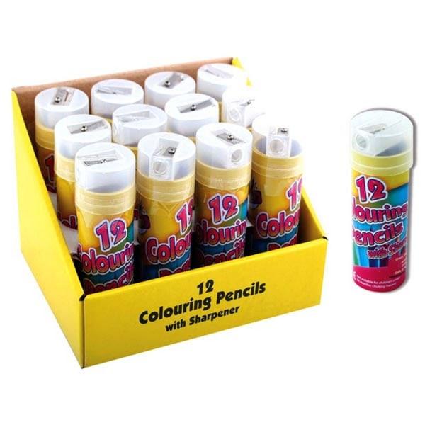 ArtBox Halvstorlek 12 målarpennor och slipare One Size Flerfärga
