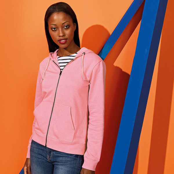 Asquith & Fox Zip-Through Organic Hoodie för kvinnor / damer 12 UK Bri