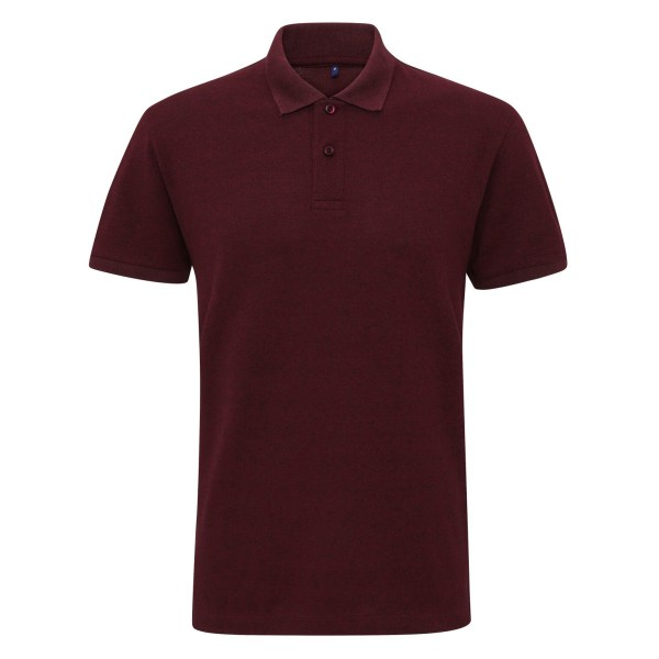Asquith & Fox Mens Twisted Yarn Polo M Burgundy / Black