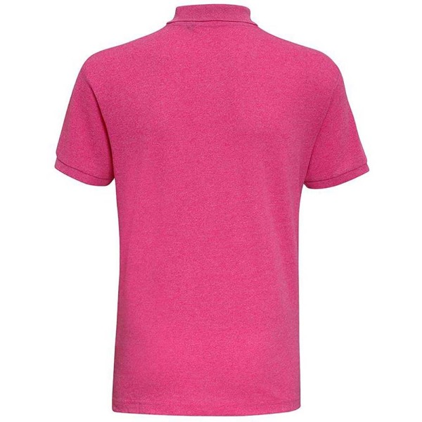 Asquith & Fox Mens Twisted Yarn Polo 3XL Pink Melange