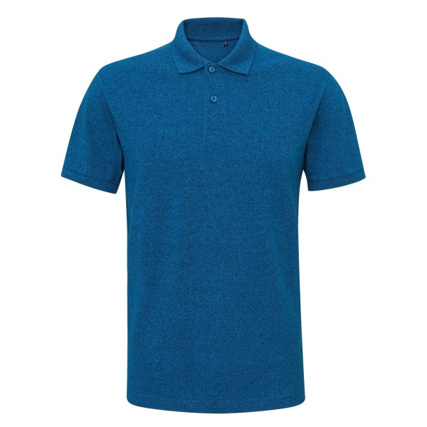 Asquith & Fox Mens Twisted Yarn Polo XL Sapphire / Black