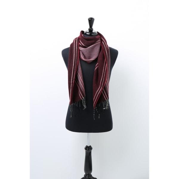 Asquith & Fox Randig halsduk för män One Size Burgundy
