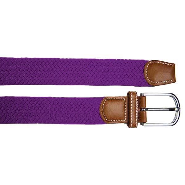Asquith & Fox Woven Braid Stretch Belt för herrar One Size Lila