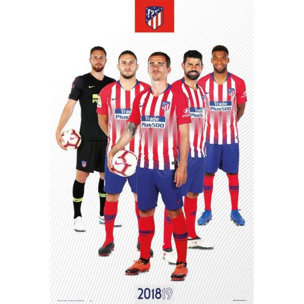 Atletico Madrid FC Officiella spelare-affisch One Size Röd blå