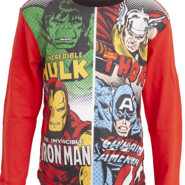Avengers Barn / barn Comic Panel Long Pyjamas 5-6 Years Röd