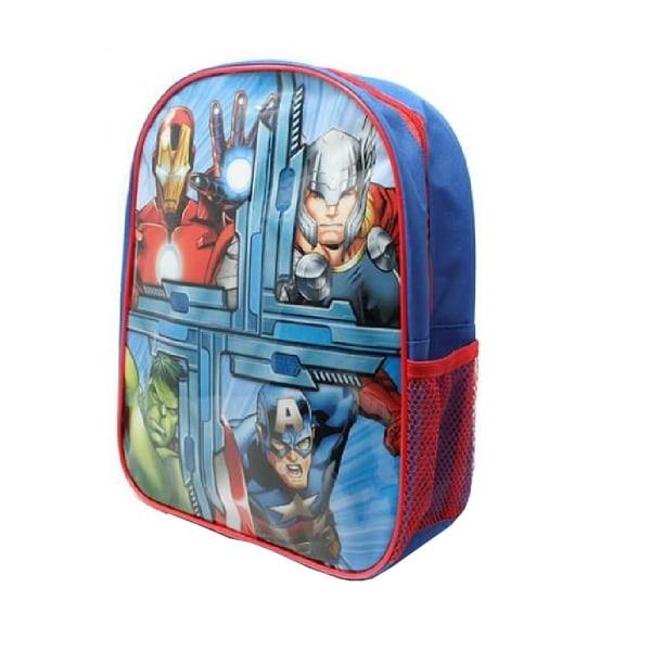 Avengers Barn / barn fyrkantig ryggsäck One Size Blå röd