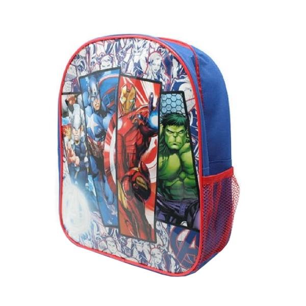Avengers Barn / barn karaktär ryggsäck One Size Blå röd