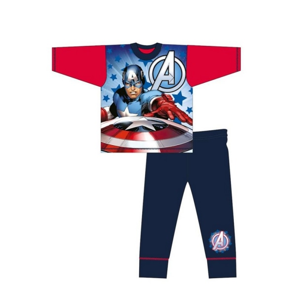 Avengers Pojkar Captain America Pyjamas Set 7-8 Years Blå röd